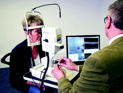 Spectralis eye exam