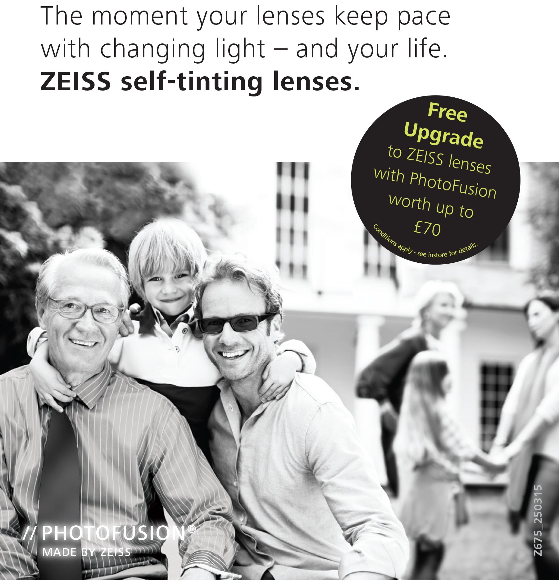 fea6f0abef4 Free Upgrade to ZEISS Lenses with PhotoFusion - Worth Up To £70 ...